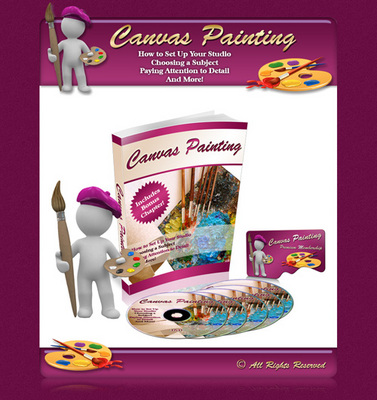 Product picture Canvas Painting Minisite + Resale Rights.