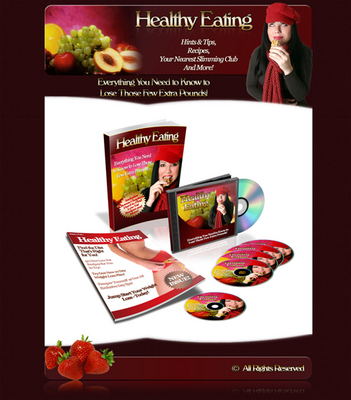Product picture Healthy Eating Minisite & Ebook