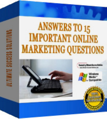 Product picture 15 Of The Biggest Questions In Online Marketing (MRR)