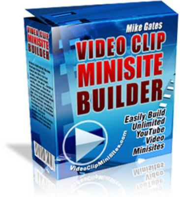 Product picture  VideoClipWebsites Builder Script!!